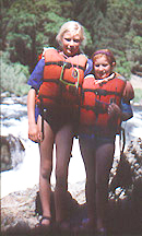 Family Whitewater Rafting Tripon the Klamath River, California_Danielle and Camille